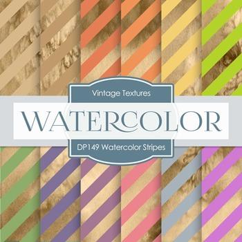 Digital Papers - Watercolor Stripes (DP149)