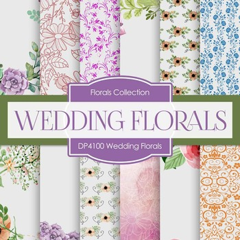 Digital Papers - Wedding Florals (DP4100)