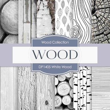 Digital Papers - White Wood (DP1405)