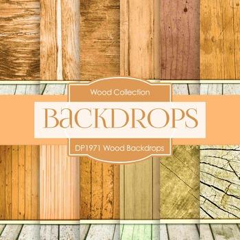 Digital Papers - Wood Backdrops (DP1971)