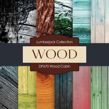Digital Papers - Wood Cabin (DP670)