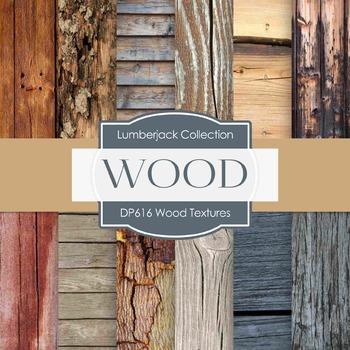 Digital Papers - Wood Textures  (DP616)