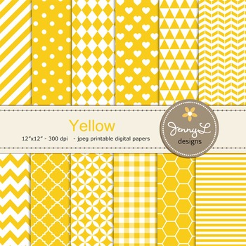 Digital Papers : Yellow
