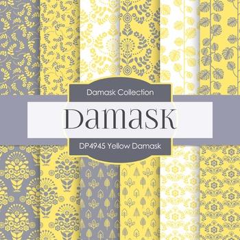 Digital Papers - Yellow Damask (DP4945)