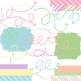Digital Papers and Frames Blossom Jumbo Set Spring Easter