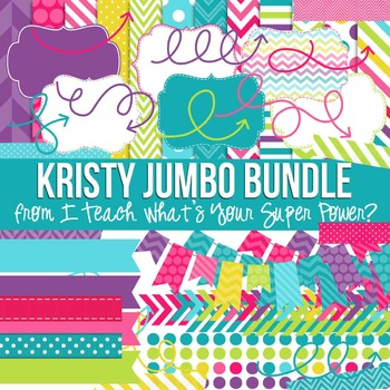Digital Papers and Frames Kristy Jumbo Set