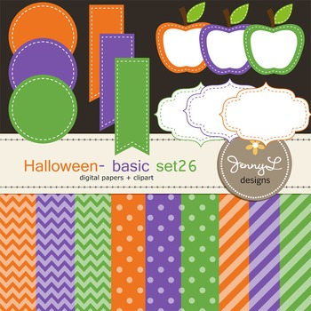 Digital Papers and Label Cliparts Basic Set 26, Teacher Se
