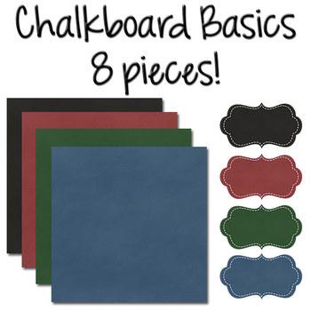 Digital Papers with Frames: Chalkboard Basics