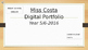 Digital Portfolio Learning Goals Term/Semester Goals