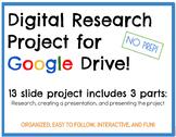 DIGITAL Google Drive Interactive Notebook: Research Projec