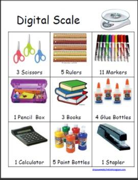 Digital Scale Activity Sheet