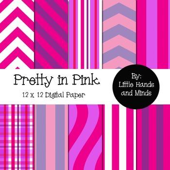 Digital Scrapbook Paper - Pretty in Pink