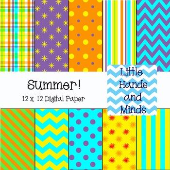 Digital Scrapbook Paper - Summer