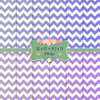 Digital Scrapbooking Paper 12x12 + 8.5x11 Inch Stripe Patt