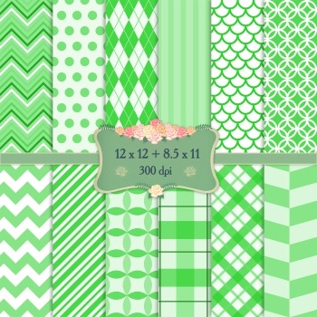 Digital Scrapbooking Paper Holiday Paper Happy Embellishme