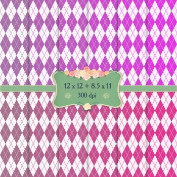 Digital Scrapbooking Paper Repetition Birthday Checker Col