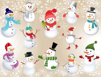 Digital Snowman Clip Art Christmas Clip Art Christmas Snow