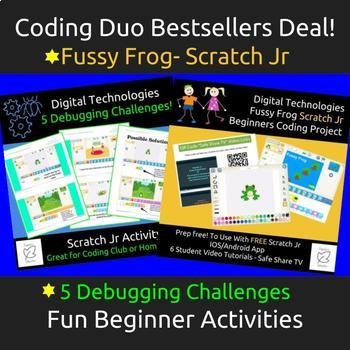 Learn To Code - Scratch Jr Fussy Frog Project & 5 Debuggin