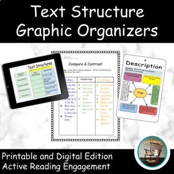 Text Structures Digital Interactive Notebook for Google Drive