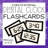 Digital Clock Flashcards- 5 Minute Interval