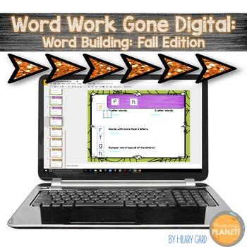 Digital Word Work: Fall Word Building for Word Work!