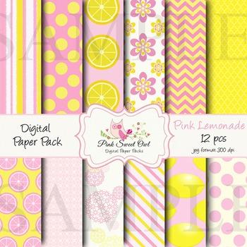 Digital file - Lemonade paper background