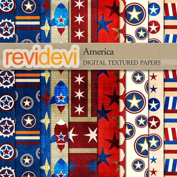 Digital scrapbook textured papers - America 10070 (fourth