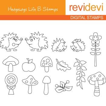 Digital stamp - Hedgehogs Life B Stamps 07030 (Coloring gr