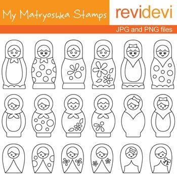 Digital stamps - My Matryoshka Stamps 07021 (coloring grap