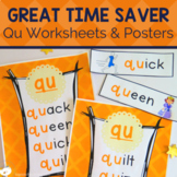Digraph Activities, Games & Worksheets {qu}