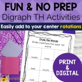 Digraph Activities, Games & Worksheets {th}