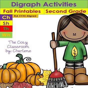 Digraph Activities - Second Grade ELA CCSS RF.2.3