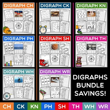 Digraphs Bundled Unit Print and Go Assessment Included