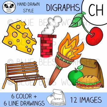 Digraph Clip Art - CH