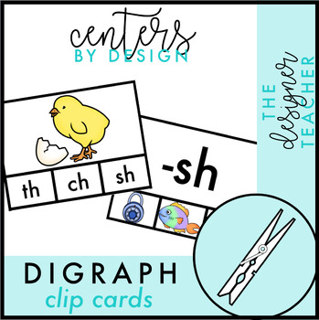 Digraph Clip Cards {CH, SH, TH, & WH}