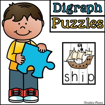 Digraph Cut Apart Puzzles