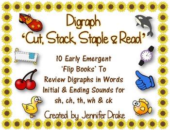 Digraph 'Cut, Stack, Staple & Read' Books!  ~10 Books~ CC