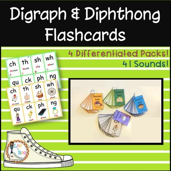 Digraph & Dipthong Flashcards - 4 Differentiated Packs! 40
