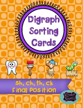 Digraph Final Position Picture Sorting Cards
