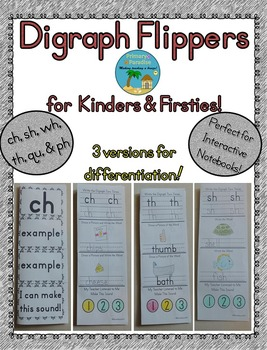 Digraph Flippers for Kinders and Firsties