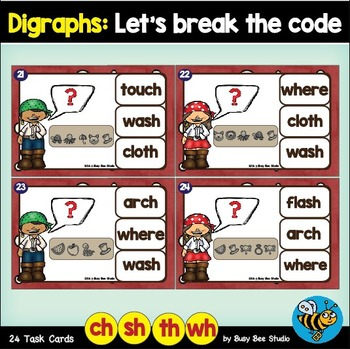 Digraph Game: Let's Break the Code -ch-, -sh-, -th-, wh-