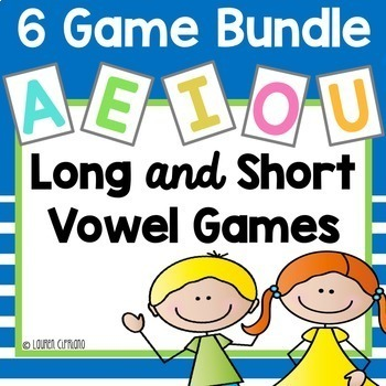 Long and Short Vowel Games Bundle {A, E, I, O, U}
