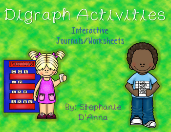 Digraph Interactive Journals and Worksheets