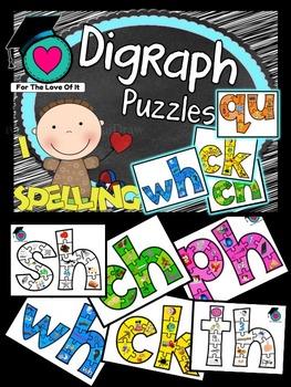 Digraph Jigsaw Puzzles (sh, ch, wh, th, ck, qu, ph)