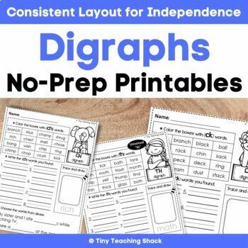 Digraph- Phonics Practice Printables