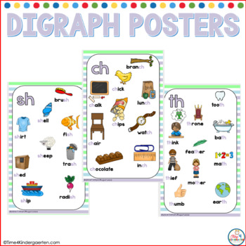 Digraph Posters Spring Stripes