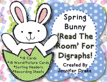 Digraph 'Read The Room' ~Spring Bunny~ Version!  Several W