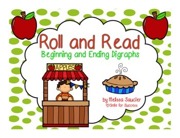 Digraph Roll and Read for Fall Fun! {Freebie}