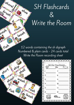 Digraph SH Flashcards and Write the Room