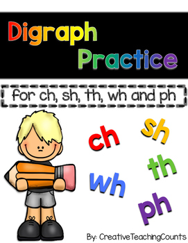 Digraph Sorting Practice - ch, sh, wh, th, and ph